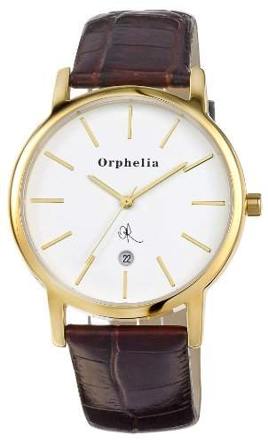 Orphelia Herren-Armbanduhr XL Analog Quarz Leder OR22670113