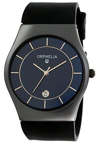 Orphelia Herren Armbanduhr Herrenuhr Quarz Uhrwerk Analog Uhr mit Silikon Armband in schwarz