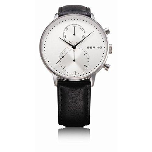 BERING klassische Uhr mit Lederband 13242 404