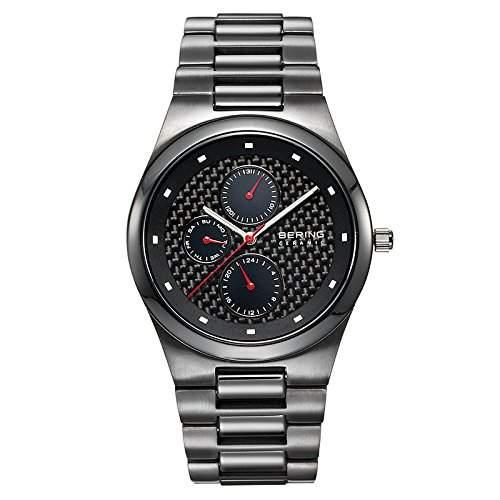BERING Time Herren-Armbanduhr Slim Ceramic Analog Quarz 32339-782