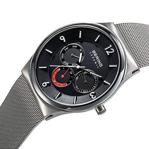 Bering Time Herren-Armbanduhr XL Ceramic Analog Quarz Edelstahl 33440-077