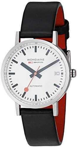 Mondaine Damen-Armbanduhr XS Classic Automatic Analog Automatik Leder A1283000816SBB