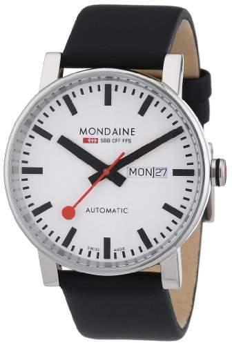 Mondaine Herren-Armbanduhr XL Automatic Day Date Analog Automatik Leder A1323034811SBB