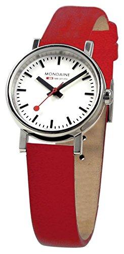 NEU Original MONDAINE Damenarmbanduhr im Design der original Schweizer Bahnhofsuhr Mondaine Evo 26mm A658 30301 11SBC