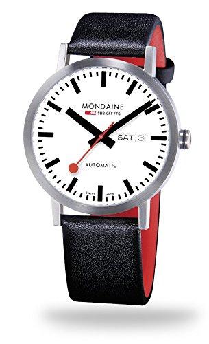 NEU Original MONDAINE Herrenarmbanduhr im Design der original Schweizer Bahnhofsuhr Mondaine Classic Automatic 40mm A132 30359 16SBB