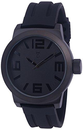 Koenigswerk AQ202894G schwarze Zeiger Innenring Armband aus Silikon Zifferblatt und Gehaeuse aus Quarz