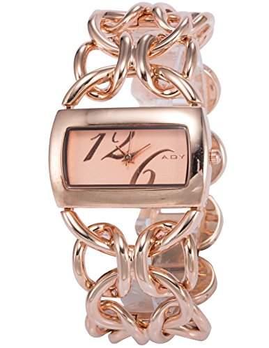 Fashion Damenuhr Rose Gold Armreif Quarzuhr Damen Uhr Edelstahl Armbanduhr NEU