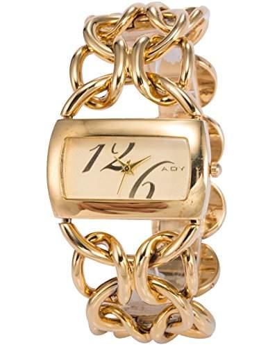 AMPM24 Fashion Damenuhr Gold Armreif Quarzuhr Damen Uhr Edelstahl ArmbanduhR