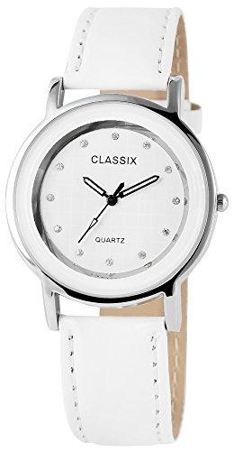 Classix Damenuhr mit Lederimitationsarmband Uhr Armbanduhr RP4782200023