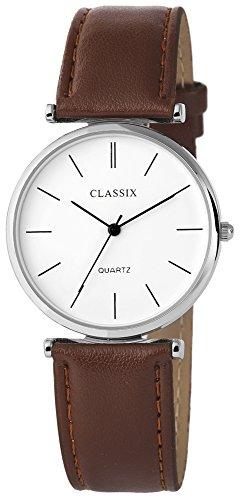 Classix mit Lederimitationsarmband Uhr Armbanduhr RP4782210016