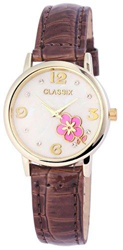 Classix Damenuhr mit Lederimitationsarmband Uhr RP1280700001