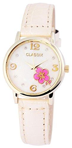 Classix Damenuhr mit Lederimitationsarmband Uhr RP1280750001