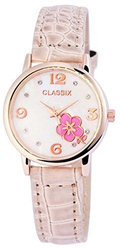 Classix mit Lederimitationsarmband Uhr RP1283750001