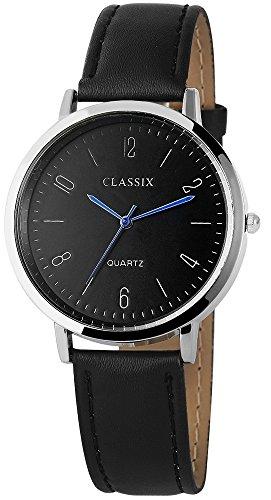 Classix mit Lederimitationsarmband Uhr Armbanduhr RP4782100019