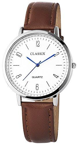 Classix mit Lederimitationsarmband Uhr Armbanduhr RP4782210019