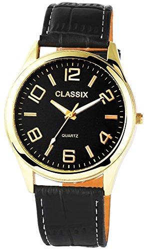 Classix mit Lederimitationsarmband Uhr RP4780100009