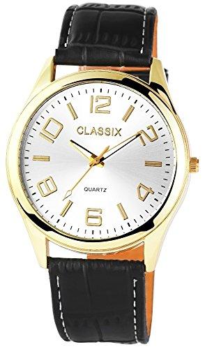 Classix mit Lederimitationsarmband Uhr RP4780250009