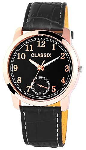 Classix Herrenuhr mit Lederimitationsarmband Uhr RP4783100004