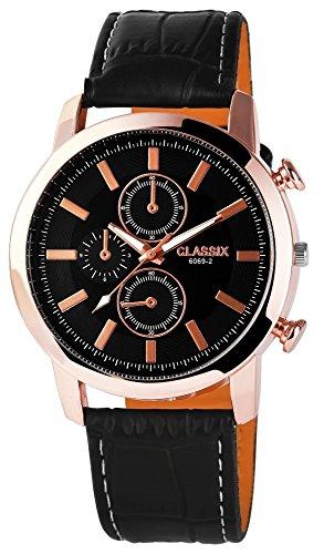 Classix mit Lederimitationsarmband Uhr RP4783100006
