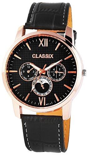 Classix Herrenuhr mit Lederimitationsarmband Uhr RP4783100008