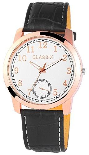 Classix Herrenuhr mit Lederimitationsarmband Uhr RP4783250004