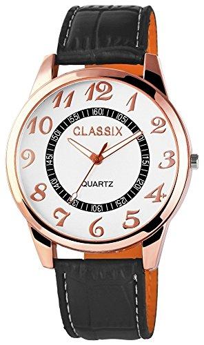 Classix Herrenuhr mit Lederimitationsarmband Uhr RP4783250005