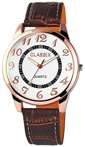 Classix mit Lederimitationsarmband Uhr RP4783260005