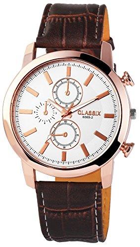 Classix mit Lederimitationsarmband Uhr RP4783260006