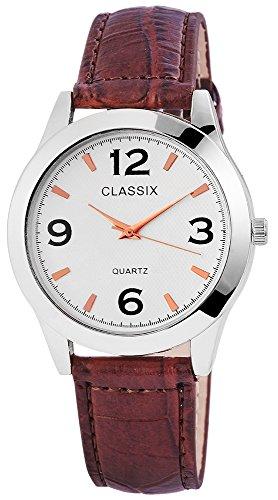 Classix Herrenuhr Armbanduhr Kunstlederarmband 23cm Dornschliesse RP4782250010