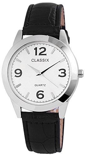 Classix Herrenuhr Armbanduhr Kunstlederarmband 23cm Dornschliesse RP4782260010