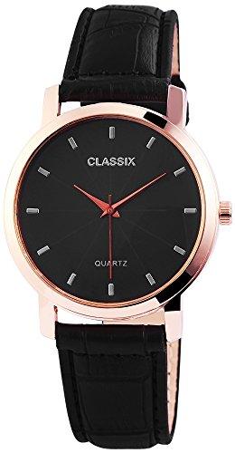 Classix Herrenuhr Armbanduhr Kunstlederarmband 24cm Dornschliesse RP4783100014