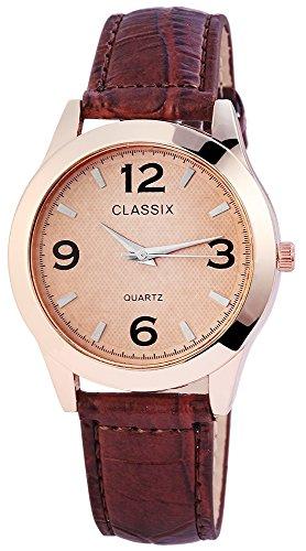 Classix Herrenuhr Armbanduhr Kunstlederarmband 23cm Dornschliesse RP4783750010