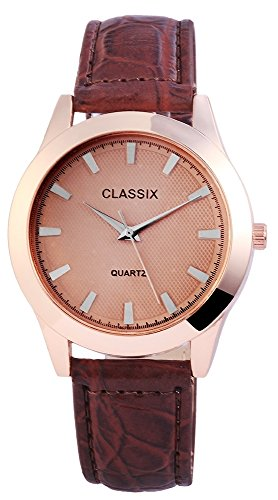Classix Herrenuhr Armbanduhr Kunstlederarmband 23cm Dornschliesse RP4783750011