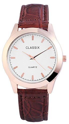 Classix Lederimitationsarmband silberfarbig Armbanduhr RP4782250011