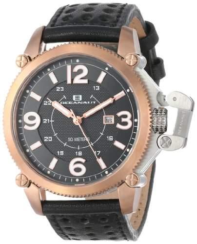 Oceanaut Herren OC4111 Analog Quartz Black Armbanduhr