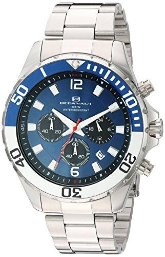 Oceanaut Armbanduhr Analog Quarz Edelstahl OC2520 Blue Silver
