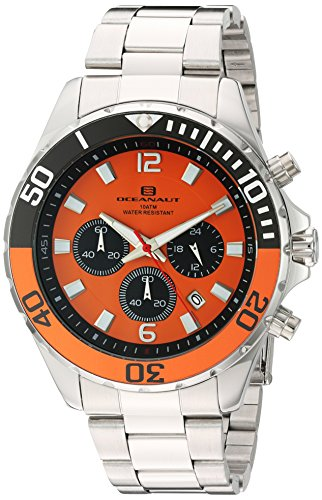 Oceanaut Armbanduhr Analog Quarz Edelstahl OC2522 Orange Silver