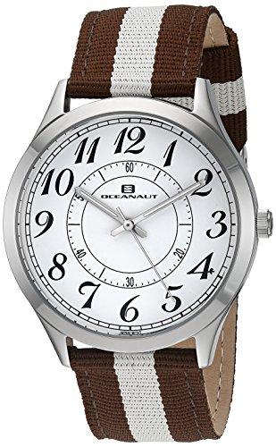 Oceanaut OC7915 Herren Armband Uhr Nylon Leder Edelstahl