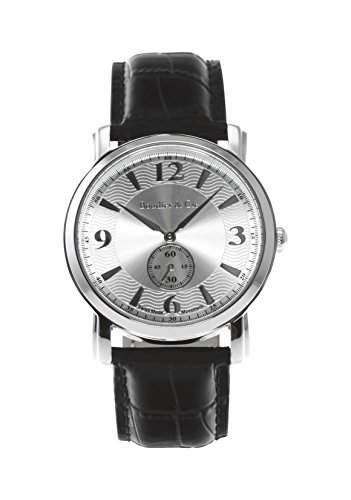 Boudier & Cie Herren-Armbanduhr Quarz Analog Leder Schwarz - BSSM200