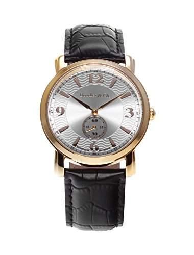 Boudier & Cie Herren-Armbanduhr Quarz Analog Leder Schwarz - BSSM202
