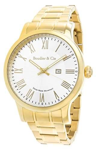 Boudier & Cie Herren-Armbanduhr Quarz Analog Edelstahl - BSSM207