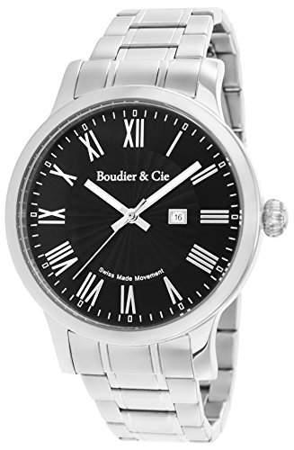 Boudier & Cie Herren-Armbanduhr Quarz Analog Edelstahl - BSSM208