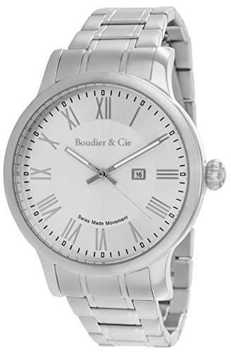 Boudier & Cie Herren-Armbanduhr Quarz Analog Edelstahl - BSSM208B
