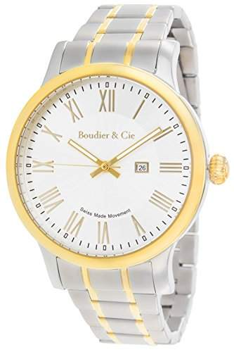Boudier & Cie Herren-Armbanduhr Quarz Analog Edelstahl - BSSM209