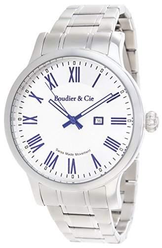 Boudier & Cie Herren-Armbanduhr Quarz Analog Edelstahl - BSSM210