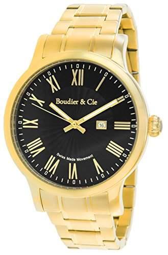 Boudier & Cie Herren-Armbanduhr Quarz Analog Edelstahl - BSSM211