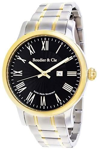 Boudier & Cie Herren-Armbanduhr Quarz Analog Edelstahl - BSSM212
