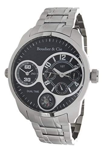 Boudier & Cie XL Herren-Armbanduhr Quarz Analog Edelstahl - OZG1077