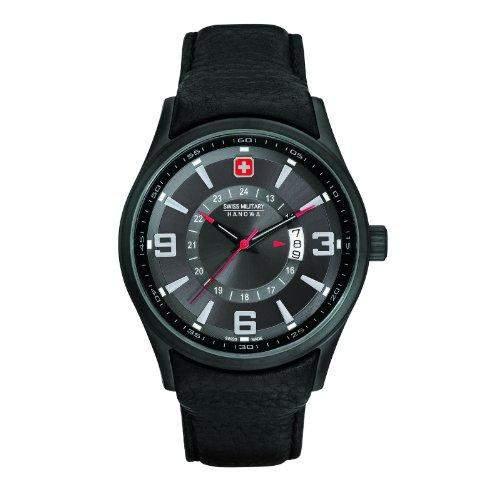 Swiss Military Hanowa Herren-Armbanduhr XL Analog Quarz Leder 06-415513007
