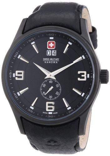 Swiss Military Hanowa Herren-Armbanduhr XL Analog Quarz Leder 06-420913007
